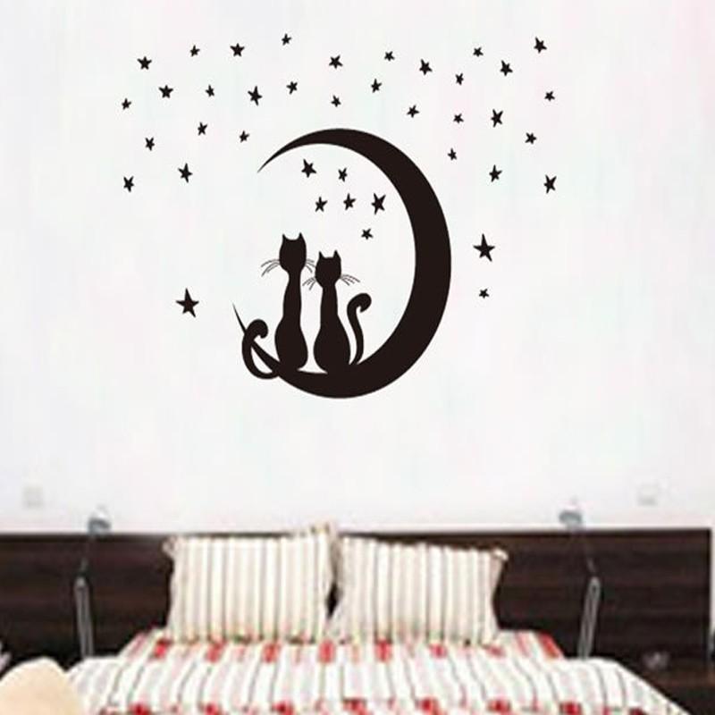 Wandtattoo Katzenmond