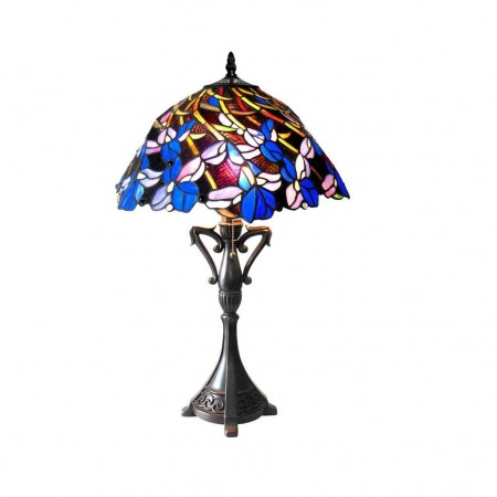 copy of Tiffanylampe Charon Tischlampe 40cm Tiffanystil Glas