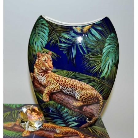 Leopard Blumenvase
