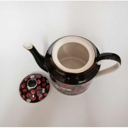 Kaffeekanne Mohnblumen