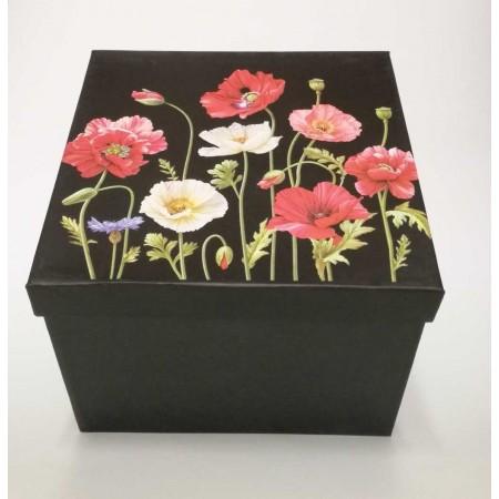 Geschenkbox Mohnblume