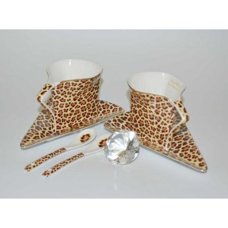 Tee und Kaffeetassenset Leopard