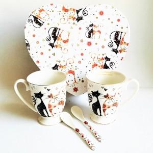 Katzen Tee- Kaffeetassenset...