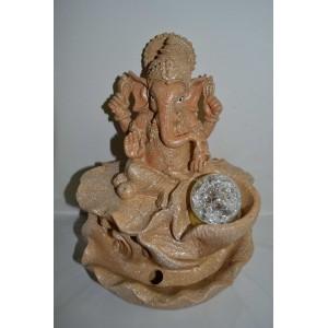 Zimmerbrunnen Ganesha Sandfarbe