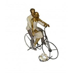 Valentinspaar mit Fahrrad...