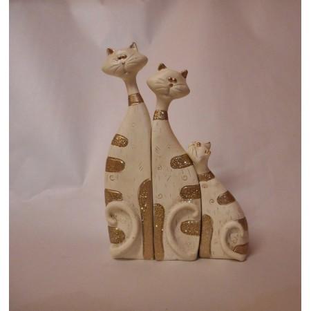 Katzenfigur Trio