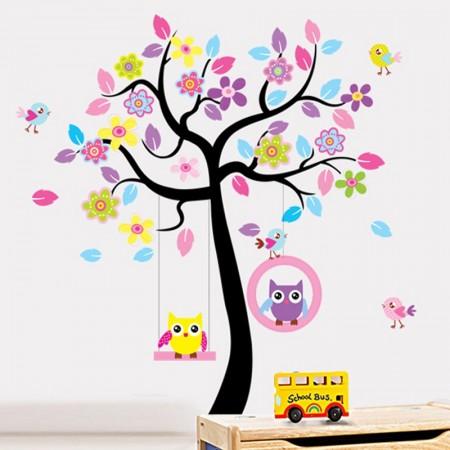 Wandtattoo XXL Eulenbaum für Kinderzimmer