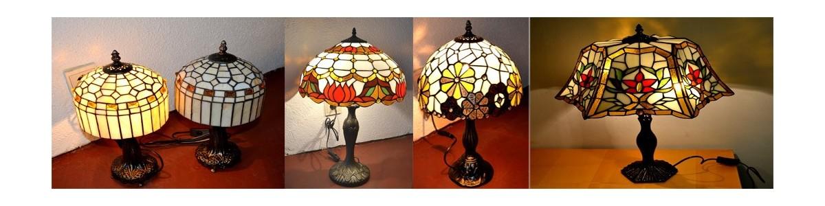 Tiffanylampe und Tiffanyglaskunst handgefertigte Kunstwerke