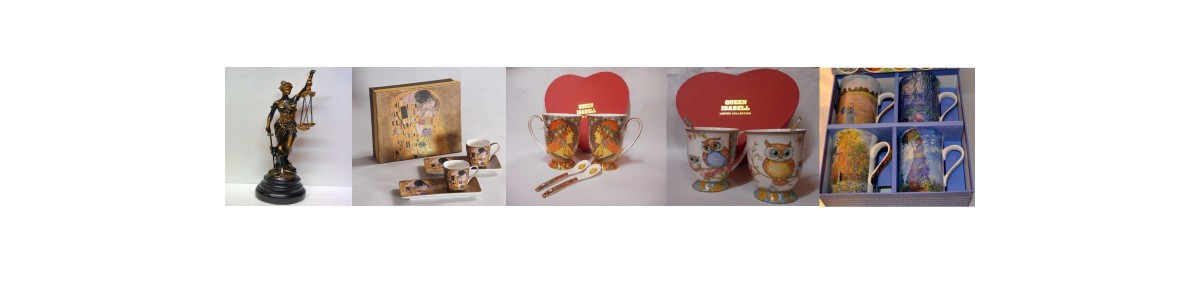 Teetassen und Kaffeetassensets mit Eulenmotiv, Dessertteller und Tortentellersets , Eulenfiguren  von Atelier Harmony Wien
