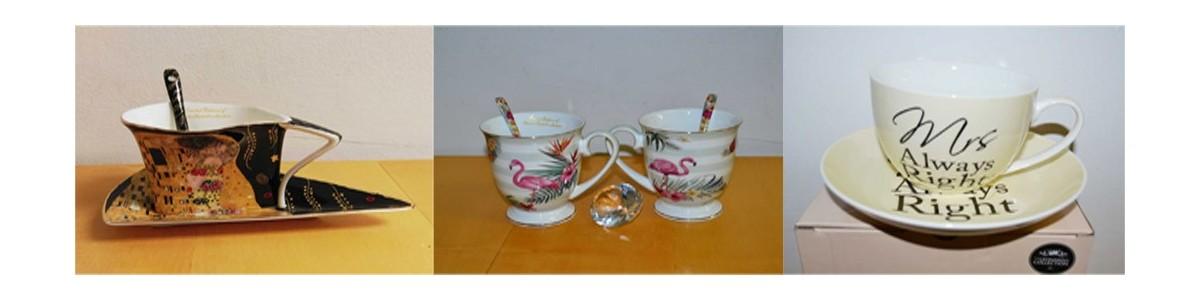 Teetassen und Kaffeetassensets Porzellan mit Geschenkboxen und verschiedenen Motiven