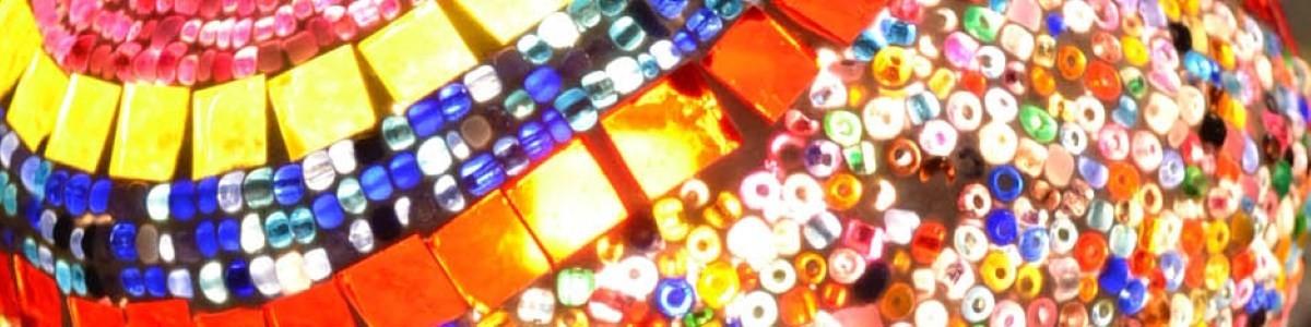 Mosaikteller handgefertigt Dekoteller