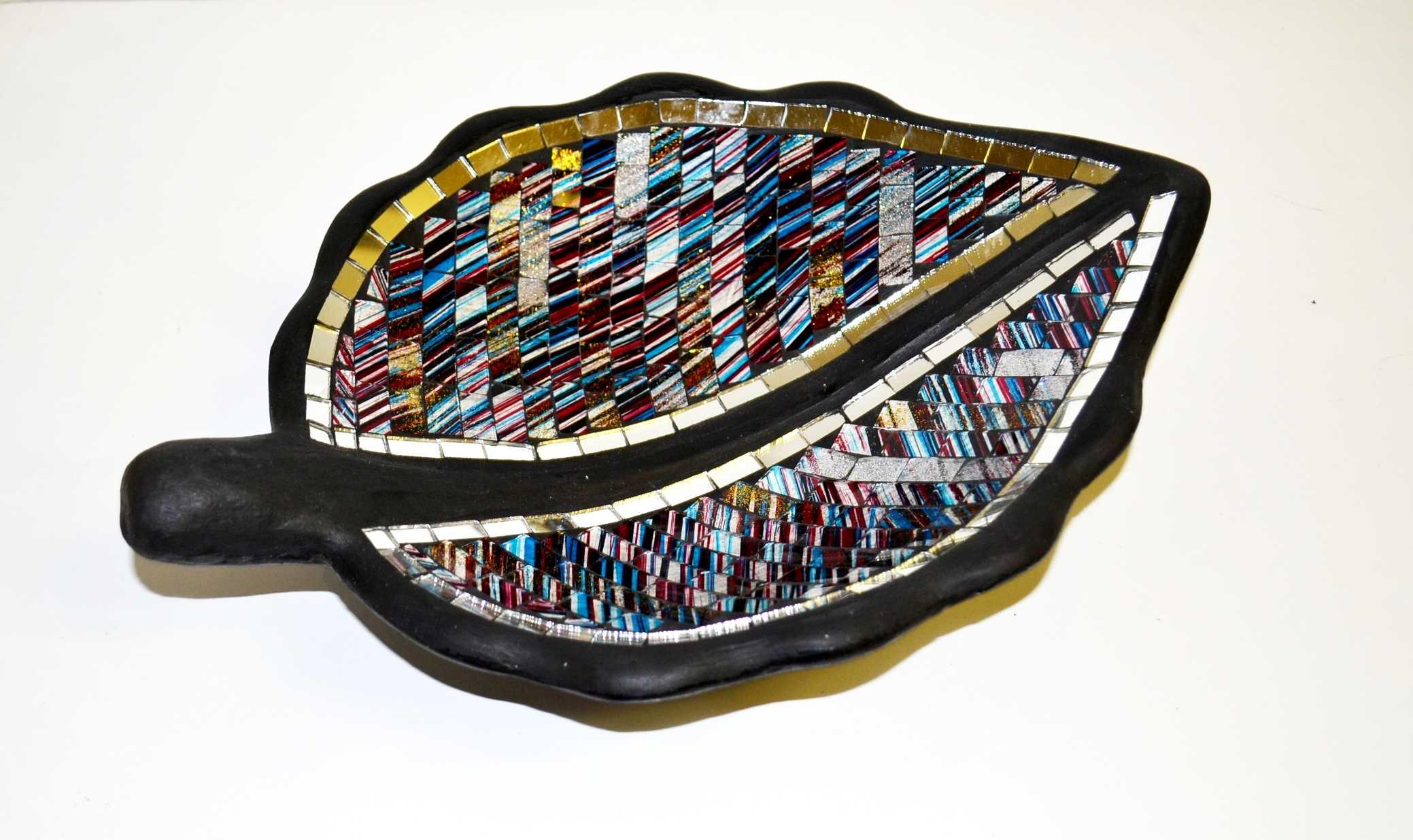Mosaikblatt blau